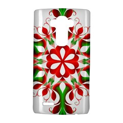 Red And Green Snowflake LG G4 Hardshell Case