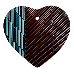 Red And Black High Rise Building Ornament (heart)