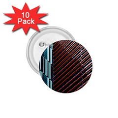 Red And Black High Rise Building 1 75  Buttons (10 Pack)