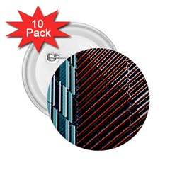 Red And Black High Rise Building 2.25  Buttons (10 pack)