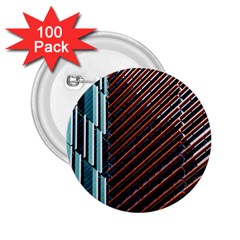 Red And Black High Rise Building 2 25  Buttons (100 Pack)