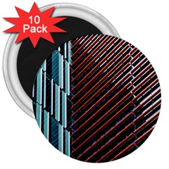 Red And Black High Rise Building 3  Magnets (10 Pack)
