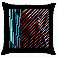 Red And Black High Rise Building Throw Pillow Case (black)