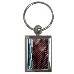 Red And Black High Rise Building Key Chains (rectangle)