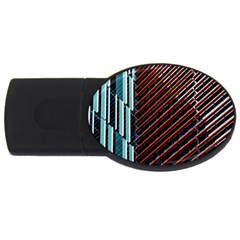 Red And Black High Rise Building USB Flash Drive Oval (2 GB)