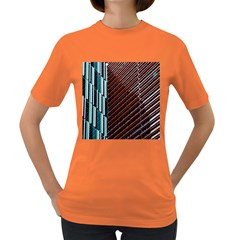 Red And Black High Rise Building Women s Dark T-Shirt
