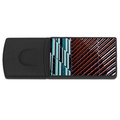 Red And Black High Rise Building USB Flash Drive Rectangular (4 GB)