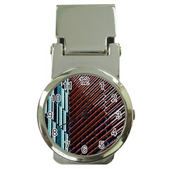 Red And Black High Rise Building Money Clip Watches
