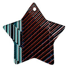 Red And Black High Rise Building Star Ornament (Two Sides)