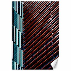 Red And Black High Rise Building Canvas 12  x 18