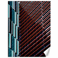 Red And Black High Rise Building Canvas 36  x 48
