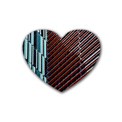 Red And Black High Rise Building Heart Coaster (4 pack)