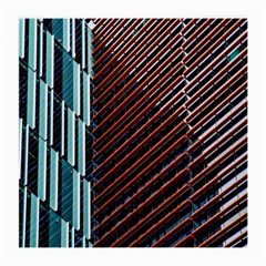 Red And Black High Rise Building Medium Glasses Cloth
