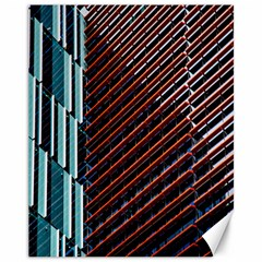 Red And Black High Rise Building Canvas 11  X 14