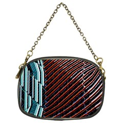Red And Black High Rise Building Chain Purses (One Side)