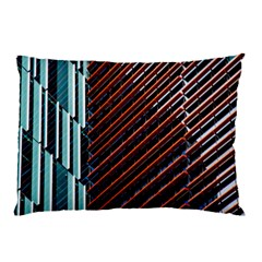 Red And Black High Rise Building Pillow Case
