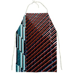 Red And Black High Rise Building Full Print Aprons