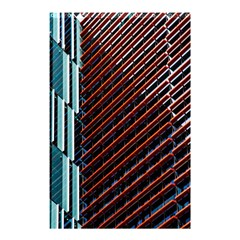 Red And Black High Rise Building Shower Curtain 48  x 72  (Small)