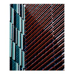 Red And Black High Rise Building Shower Curtain 60  X 72  (medium)