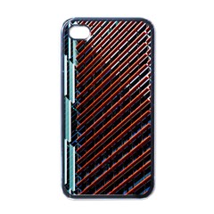 Red And Black High Rise Building Apple Iphone 4 Case (black)
