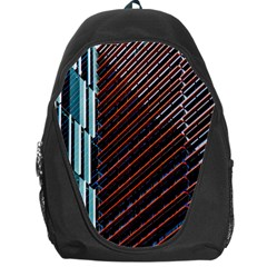 Red And Black High Rise Building Backpack Bag
