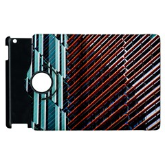Red And Black High Rise Building Apple Ipad 3/4 Flip 360 Case