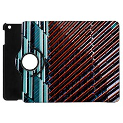 Red And Black High Rise Building Apple Ipad Mini Flip 360 Case