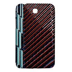 Red And Black High Rise Building Samsung Galaxy Tab 3 (7 ) P3200 Hardshell Case
