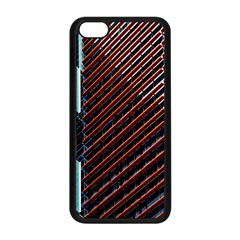 Red And Black High Rise Building Apple Iphone 5c Seamless Case (black)