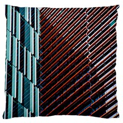 Red And Black High Rise Building Large Flano Cushion Case (two Sides)