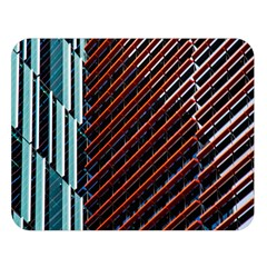 Red And Black High Rise Building Double Sided Flano Blanket (large)