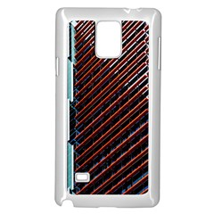 Red And Black High Rise Building Samsung Galaxy Note 4 Case (White)