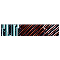 Red And Black High Rise Building Flano Scarf (Small)