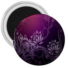 Purple Lotus 3  Magnets