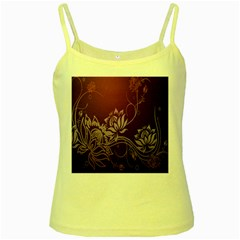 Purple Lotus Yellow Spaghetti Tank