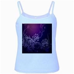 Purple Lotus Baby Blue Spaghetti Tank