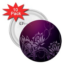 Purple Lotus 2.25  Buttons (10 pack)