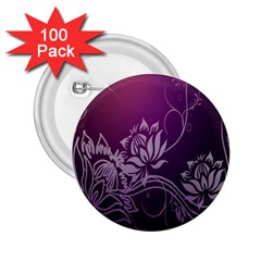 Purple Lotus 2.25  Buttons (100 pack)