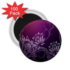 Purple Lotus 2 25  Magnets (100 Pack)