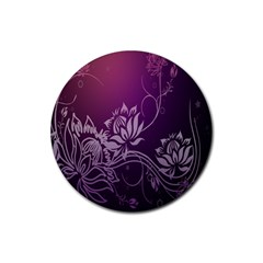Purple Lotus Rubber Coaster (round)