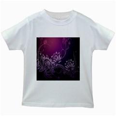 Purple Lotus Kids White T Shirts