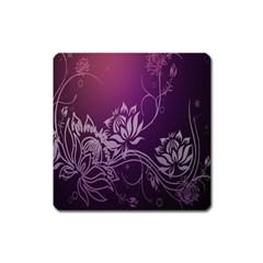 Purple Lotus Square Magnet