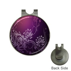 Purple Lotus Hat Clips With Golf Markers