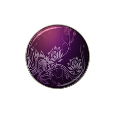 Purple Lotus Hat Clip Ball Marker (10 pack)