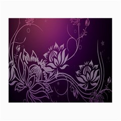 Purple Lotus Small Glasses Cloth