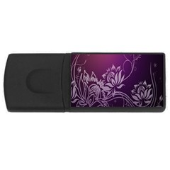 Purple Lotus USB Flash Drive Rectangular (4 GB)