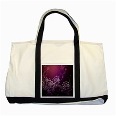 Purple Lotus Two Tone Tote Bag