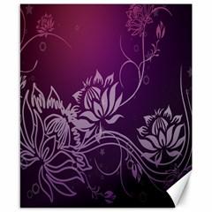 Purple Lotus Canvas 8  x 10
