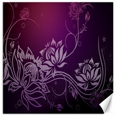 Purple Lotus Canvas 20  X 20