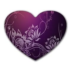 Purple Lotus Heart Mousepads